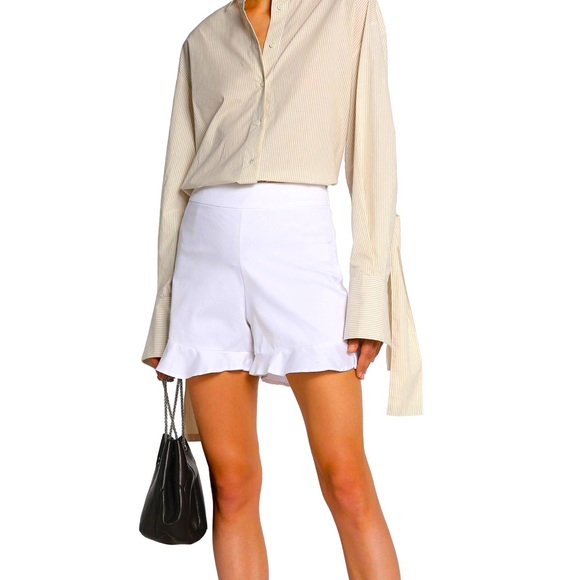 W118 by Walter Baker White High Waisted Shorts